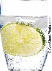 water glass and lime