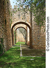 Arched entraceway in Lagos, Algarve, Portugal - Moorish...