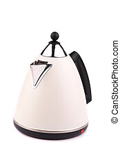 electric kettle - isolated on white background, focus point...