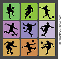 Soccer Boy Silhouettes 2 - Smooth and detail football...