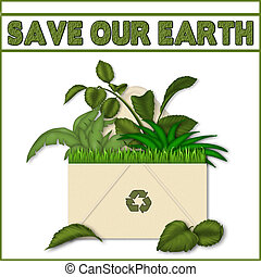 SAVE THE EARTH (Recycle Concept)