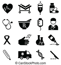 Health and medical icons - Health care and medical icon set