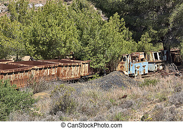 old coal wagons abandoned on the tracks