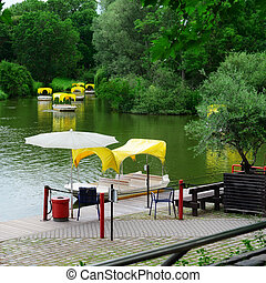 Boats for walks around the lake - Boats for walks around the...