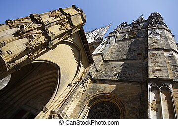 Cathedral during the day in Bayonne, France