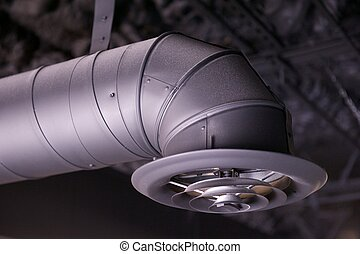Industrial Air Duct and Vent - Black industrial air duct and...