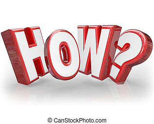 How Word Asking Question Mark 3D Seeking Answer - The word...