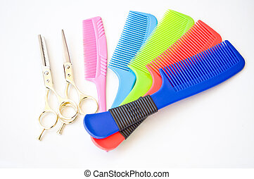 pelo, estilista, herramienta