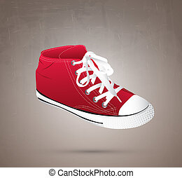 a great shoe over gray background vector illustration