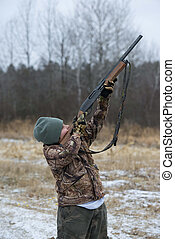 Youth Hunter - Youth hunter taking aim at a target