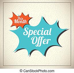 Special Offer - Special offer over vintage background vector...