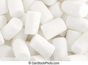 White marshmallows close up