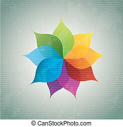 beautiful flower of different colors over blue background...