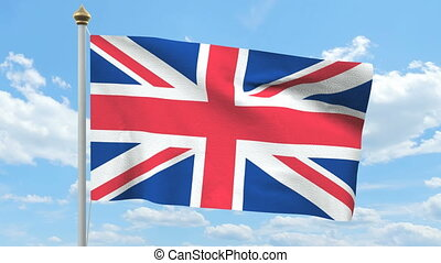 British flag waving