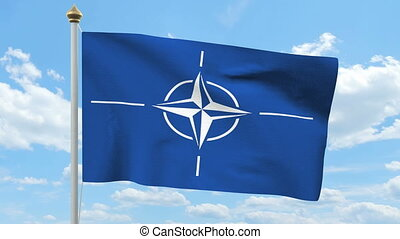 NATO flag waving