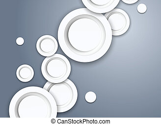 Abstract background with gray circles
