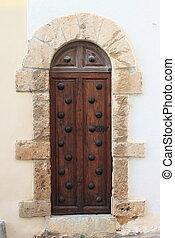 Medieval front door - Wooden medieval style front door