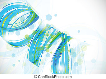 Abstract background in blue and green color