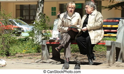 Senior Citizens In The City Park
