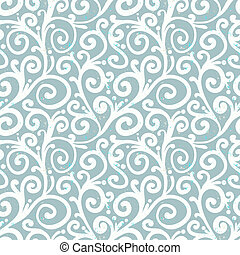 Pattern with waving curls similar to winter frost
