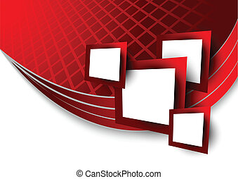 Abstract red background wtih squares