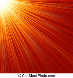 Star burst red and yellow fire EPS 8 vector file included