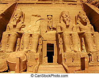 Abu Simbel Temple of King Ramses II, a masterpiece of...