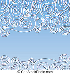 Lace frame with spirals pattern - Lace background with...