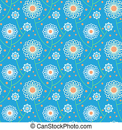 Pattern with bold and stylized flowers - Simple floral...
