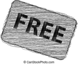 Free rubber stamp vector illustration