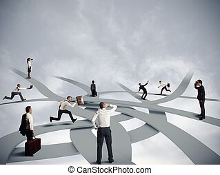 confusión, empresa / negocio, carrera