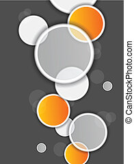 Abstract background with circles - Circles on gray...