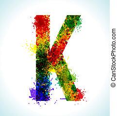 Gradient vector splashes font - Color paint splashes....