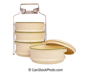 Vintage Metal Food Carrier