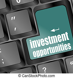 investment opportunities keyboard key