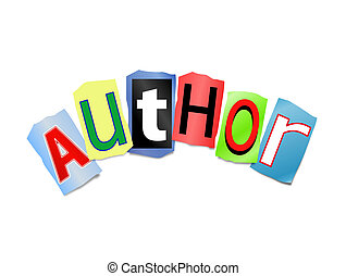 Author concept - Illustration depicting cut out letters...