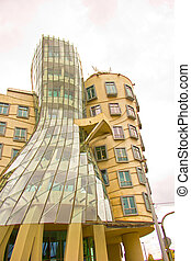 Dancing House (Prague) - Dancing House in the city of Prague...