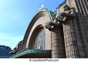Main railway station, Helsinki, Finland - View of main...