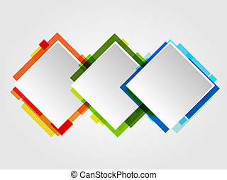Romb Design Frames. Abstract Vector Business Design.