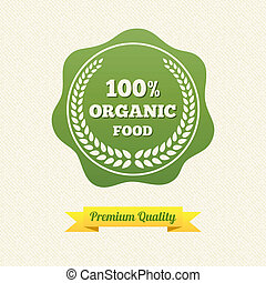 Vector Organic Food Label Vintage Design Vector Illustration...