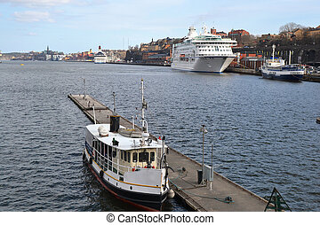 View of the harbor in Stockholm