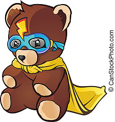 Super Hero Teddy Bear Cartoon - A super hero toy teddy bear...
