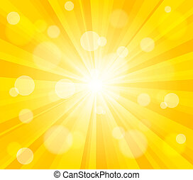 Bright vector sun effect background