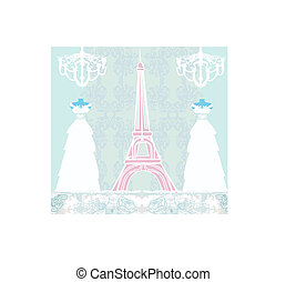 mannequin and Eiffel Tower - abstract design