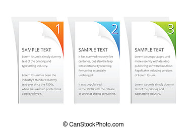 Set of Vector Colorful Sample Option Stickers.