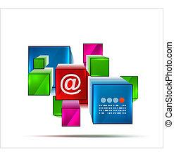Abstract 3d cubes banner design
