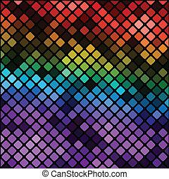 multicolor mosaic background - colorful illustration with...