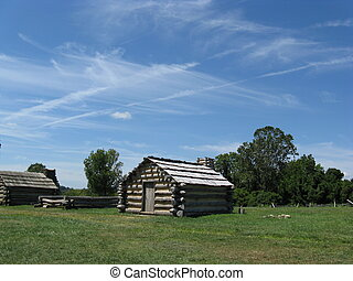 Valley Forge Cabin.