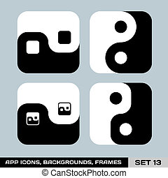 Set Of App Icon Backgrounds, Frames, Templates. Set 13. Vector