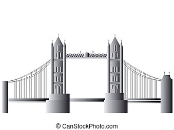 vector Tower bridge - Tower Bridge is a combined bascule and...